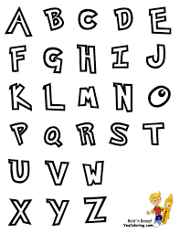 Preschool Alphabet Chart Pic at YesColoring