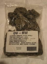 dvrw rock wool glowing embers for gas fireplace