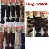 Xpressions Braiding Hair Color Chart Xpression Synthetic Braiding Hair 82inch 165g Single Color Ultra Braid Premium Kanekalon Jumbo Braiding Hair Extensions