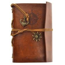 2019 retro vintage pirate anchor pu cover loose leaf string bound blank notebook notepad travel journal diary jotter brown from willbebetter