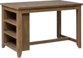 slater mill pine counter height table with 3 shelf storage by paragon furniture mall of kansas