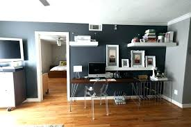 gray home office. Gray Office Ideas Home Paint Color Furniture Beautiful Elegant .