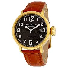 heritor olds automatic black engraved dial brown leather men s heritor olds automatic black engraved dial brown leather men s watch hr3206