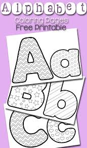 Free Alphabet Coloring Pages Learning With Life Over Cs