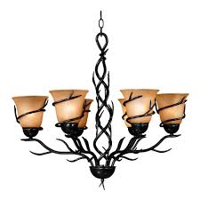 6 bulb chandelier in bronze colored finishes