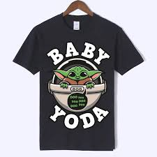 Yoda Design 2019 New Star Wars Mens Fashion The Mandalorian Child Baby Yoda Design T Shirt Short Sleeve Cool Tops Hipster Tee Harajuku