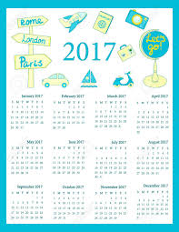 Travel Calendar Calendar 2017 For Kids Travel Calendar 2017 12 Month Calendar