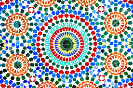 moroccan mosaic tiles australia creating handmade the ceramic school colorful wall as a background stock photo
