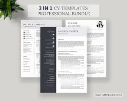 Cv Bundle Cv Templates Professional Curriculum Vitae Ms