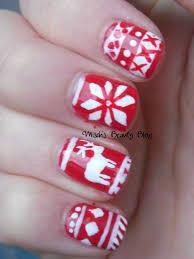 Misch's Beauty Blog: NOTD December 4th: Fair Isle Sweater Nail Art