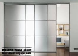 wide sliding glass door with aluminum frames for office room interior