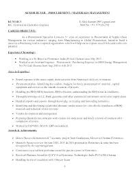 Procurement Specialist Resume Joefitnessstore Com