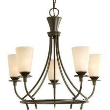 cantata collection 5 light forged bronze chandelier with seeded topaz glass shade forged bronze brushed nickel