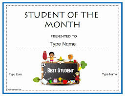 Student Of The Month Certificate Templates 30 Student Of The Month Certificate Pryncepality
