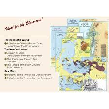 Illustrated Wall Maps Of The Bible Carta Jerusalem