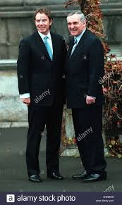 The Prime Minister Tony Blair (left) and the Taoiseach Bertie Ahern Stock  Photo - Alamy