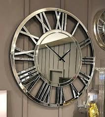 plexiglass mirror wall clock extra