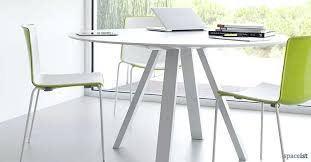 round table office ark round white meeting tables colourful chairs officeworks table cloth round table