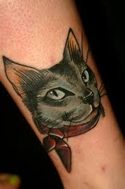Realistic Cat Tattoos Usually Look So Bad But This Cartoony One Is
