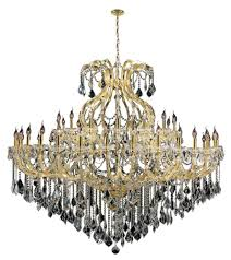 maria theresa collection 49 light gold finish crystal chandelier 72 d x 60 h