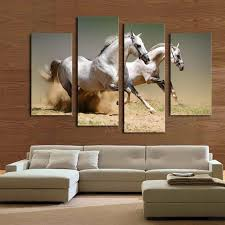 Small Picture Aliexpresscom Buy Hot Sale 4 panels Running White Horse Large