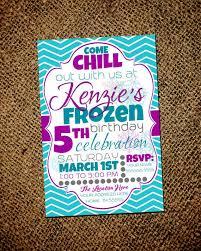 Frozen Chevron Birthday Invitation on Etsy, $13.00   Glitter invitations  birthday, Chevron birthday, Birthday invitations