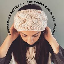 Ear Warmer Headband Knitting Pattern Custom Design Ideas