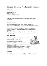 Resume Sample Cleaning Resume
