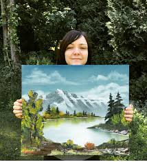 nicole bonneau 35 is in the process of recreating all 400 of bob ross paintings
