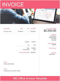 Microsoft Office Templates Invoices Ms Office Invoice Template Free Download Send In Minutes
