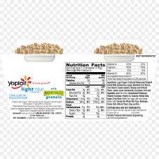 yoplait light yogurt with granola yoghurt nutrition facts label strawberry