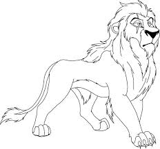 Small Picture Scar from The Lion King Coloring Page Color Luna