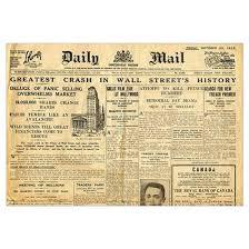 1800 Newspaper Template Wall Street Crash 1929 Version