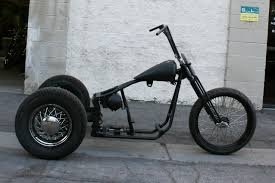 n279 old school bobber trike with 23 front malibu motorcycle works