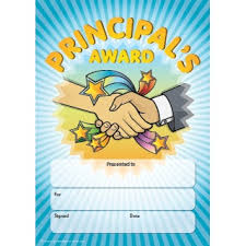 Principal Award Certificate Certificates A5 Size Universal Non Personalised A5