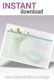 Habit Tracker Printable Daily Habit Planner Pdf Printable