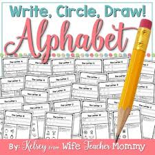 Letter Practicing Alphabet Worksheets Write Circle Draw Abc Letter Writing Practice