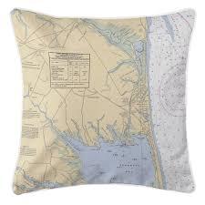 De Rehoboth Beach De Nautical Chart Pillow Island Girl