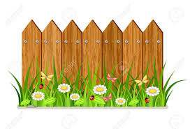 fences clip art.  Art Wooden Fence With Grass And Flowers Inside Fences Clip Art
