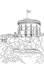 Disegno Di Castello Di Windsor Da Colorare Disegni Da Colorare E