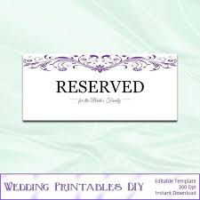reserved sign templates free reserved table tent template www microfinanceindia org