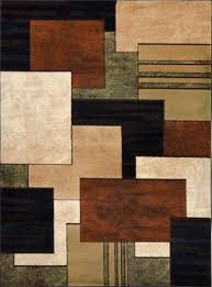 contemporary squares brown area rug 5x7 modern multi blocks actual 5 2 x7