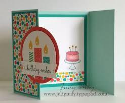 Folded Birthday Card New Catalogue Blog Hop Birthday Cards Kids Birthday Cards