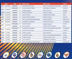 Ipl Schedule 2020 Ipl Schedule Pdf Download Hd Pics Ipl