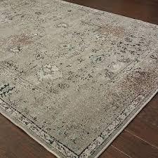red barrel studio savoy gray black area rug