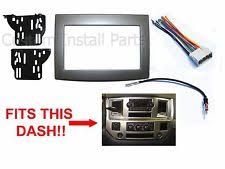dodge ram wiring harness ebay 2012 Dodge Ram Stereo Wiring Harness silver dodge ram radio stereo double din dash install kit w wiring harness (fits 2012 dodge ram stereo wiring harness