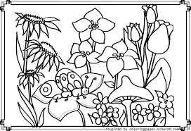 Garden Flowers Coloring Pages Perfect Flower Garden Coloring Pages