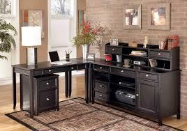 Outstanding Black Home Office Desk 10 And Credenza anadolukardiyolderg