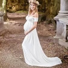 pregnant wedding dresses. Simple High Waist Maternity Wedding Dress Pregnant Women Plus Size
