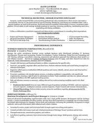 Recruiter Resume Template Enchanting Technical Recruiter Resume Example Interview Tips Pinterest